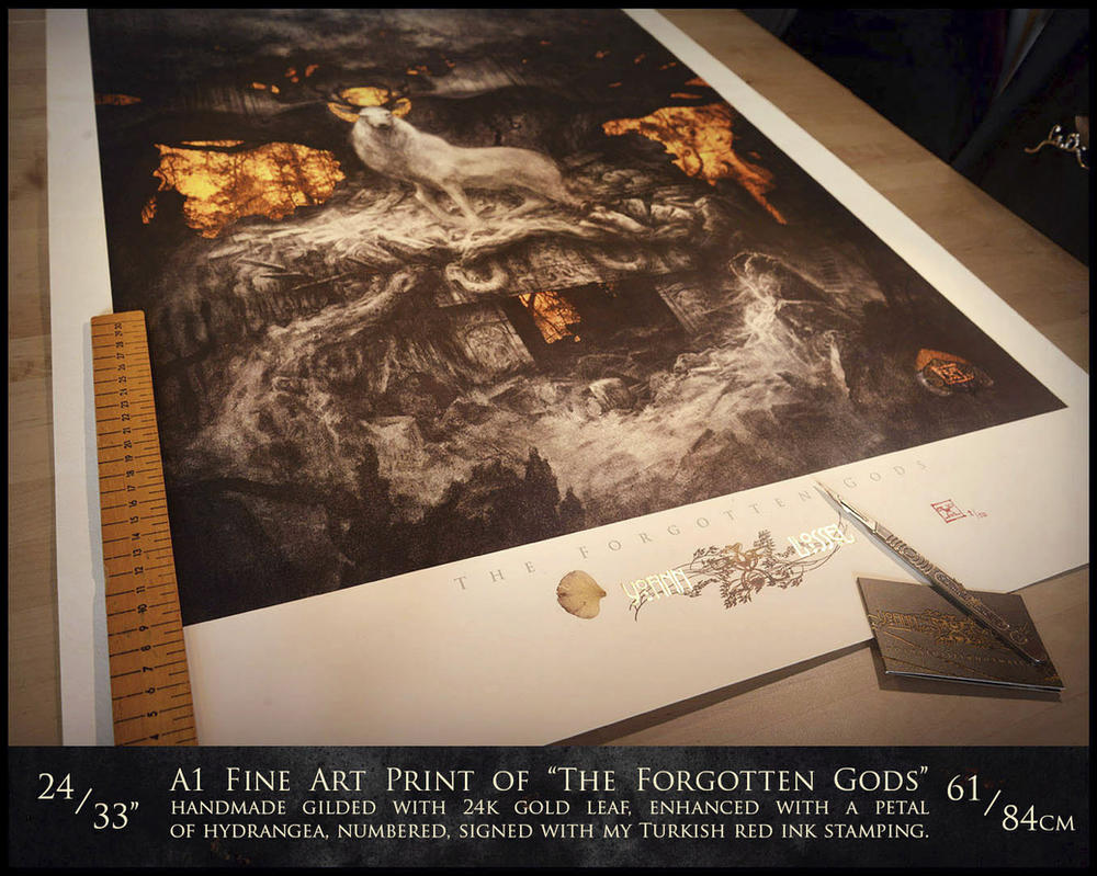 Very Large A1 Print of The Forgotten Gods by Yoann-Lossel