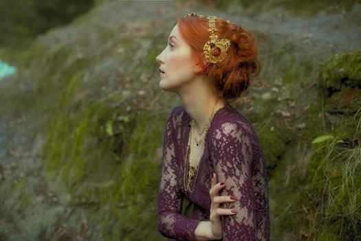 Art Nouveau Ruby Headdress