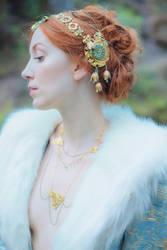 Art Nouveau Turquoise Headdress