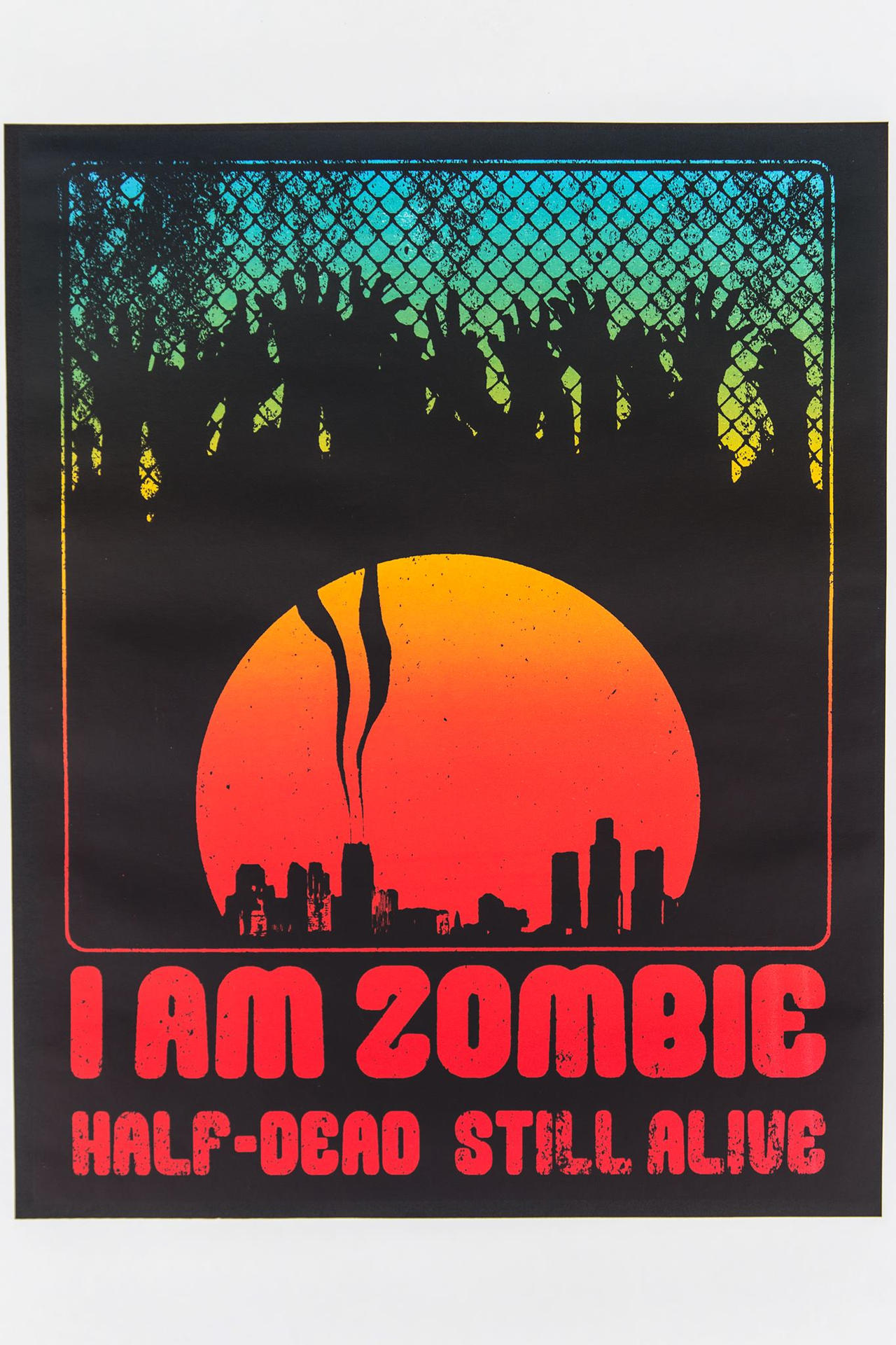 I AM ZOMBIE - Retro Poster by Z-GrimV