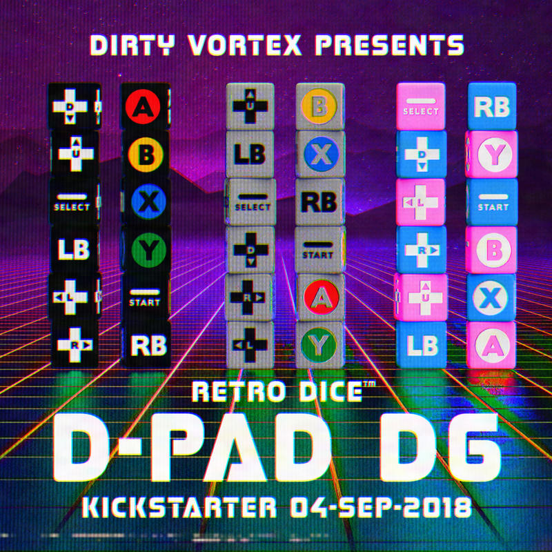 Retro Dice: D-PAD D6 - Control your destiny! by Z-GrimV