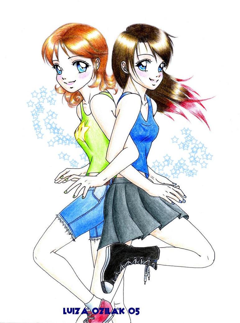 Daisy and Nina by luizamoony