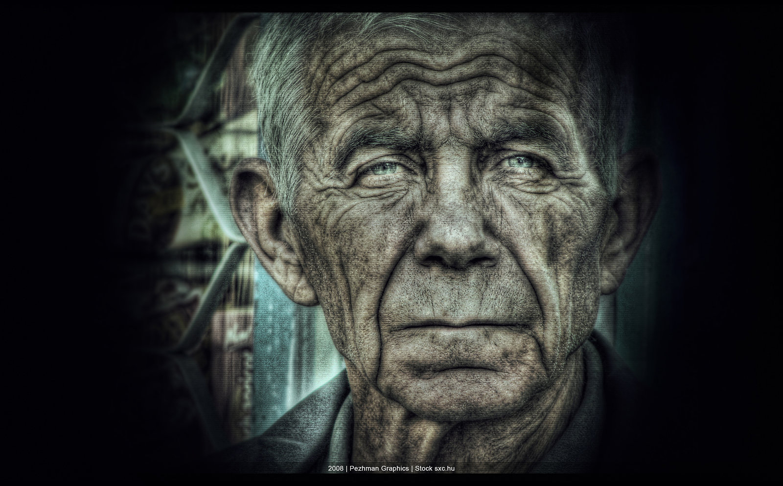 Old man in HDR by Mayheam
