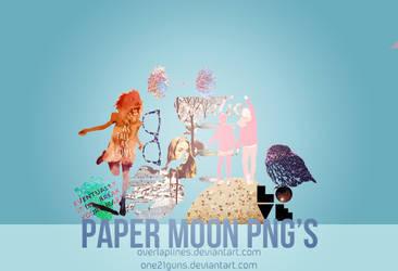 Paper moon PNG's by overlaplines
