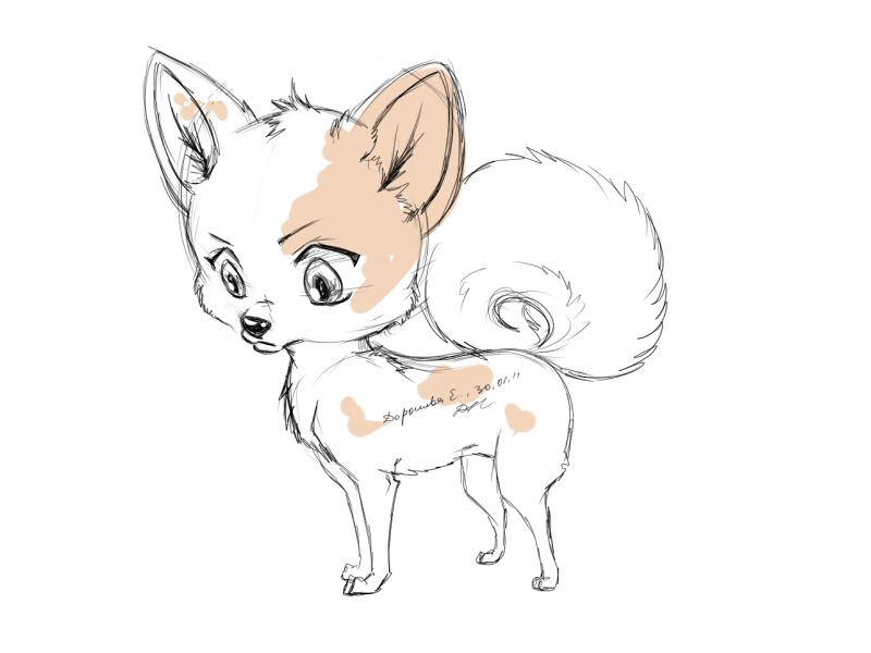 Cute Chibi Dog Chibi Dog xx by Dorosheva e