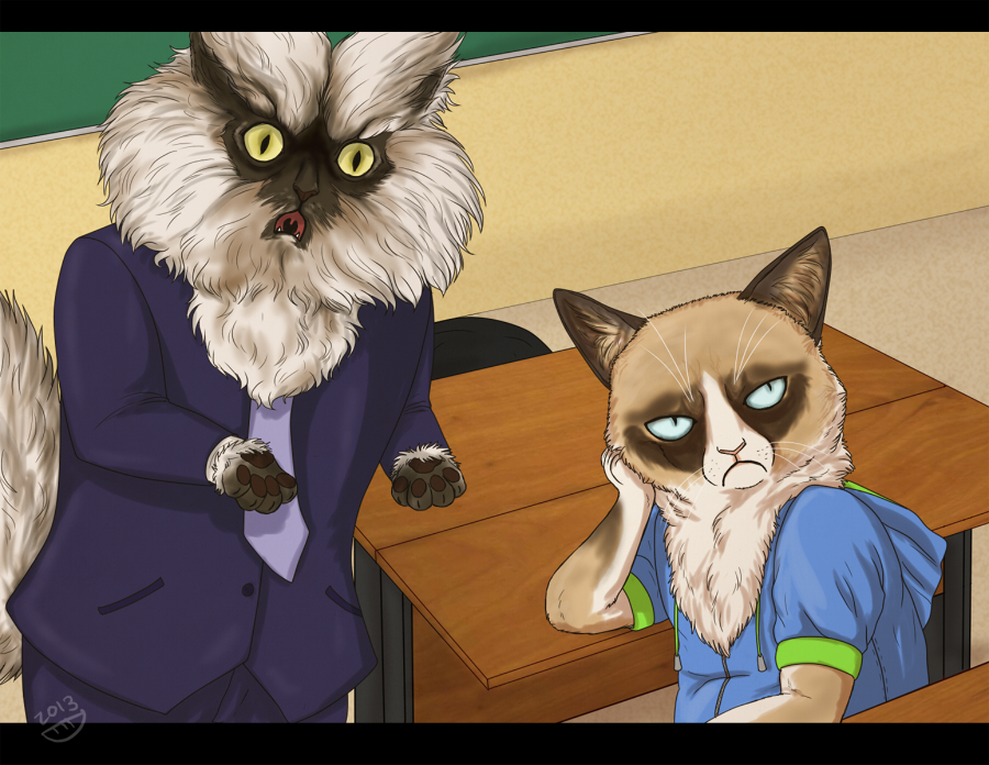 Colonel Meow and Grumpy Cat by Dorosheva-E