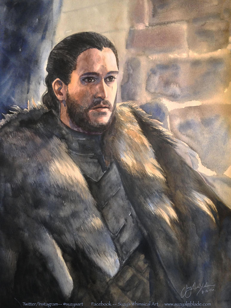 Jon Snow Portrait by CheshFire