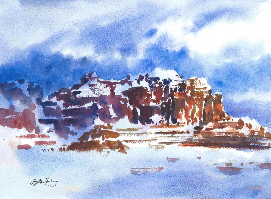Winter Touches Sedona by CheshFire