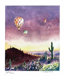 Air Balloons At Sunset