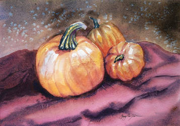 Three Pumpkins StillLife