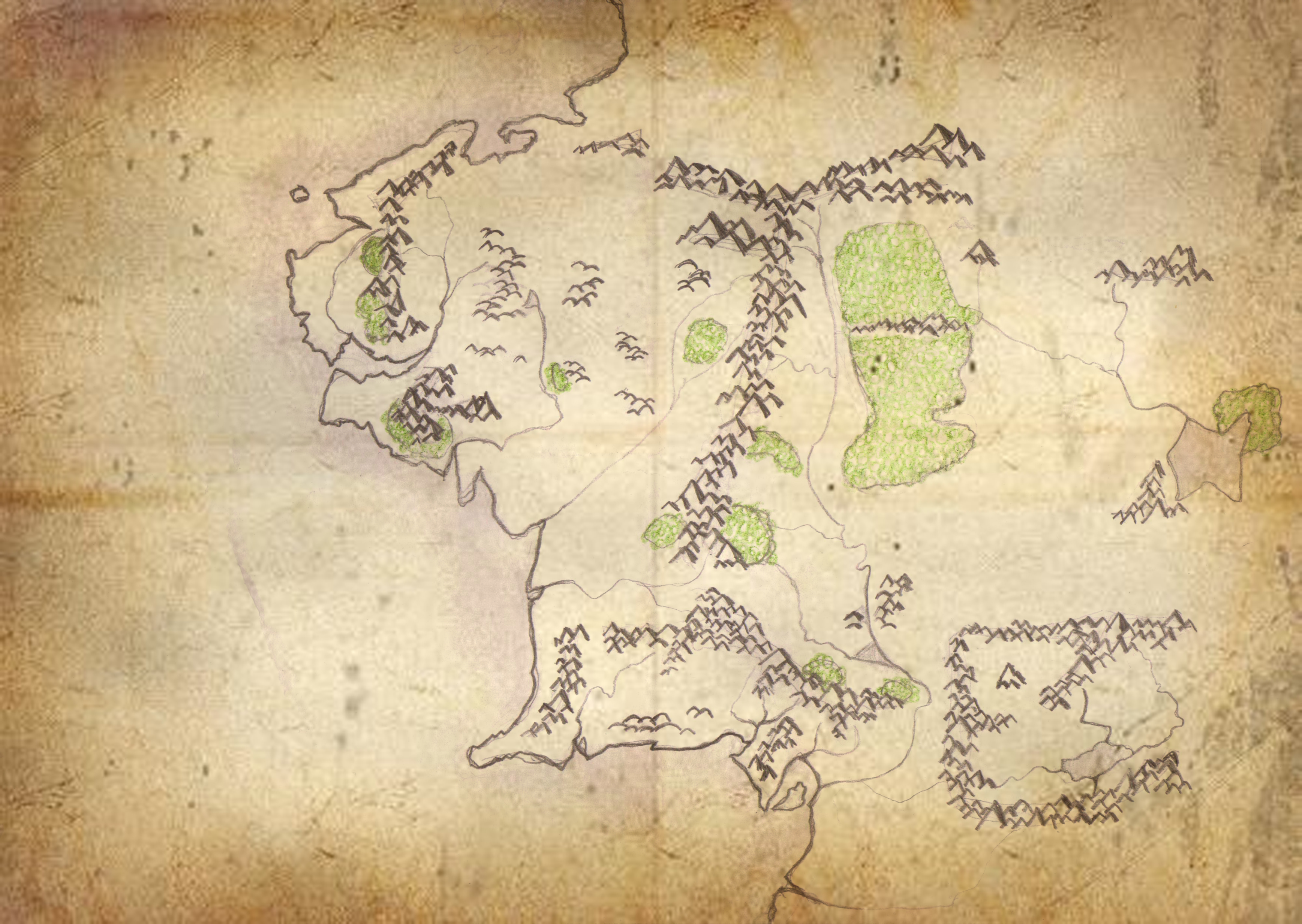 lord of the rings map of middle earth   Free Lord of the Rings Middle Earth