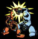 ROBOT SMASH, exclamation mark