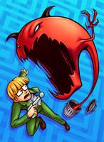 Jeff VS Stinky Ghost by Kaigetsudo