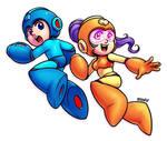 Mega Man and Mega Girl