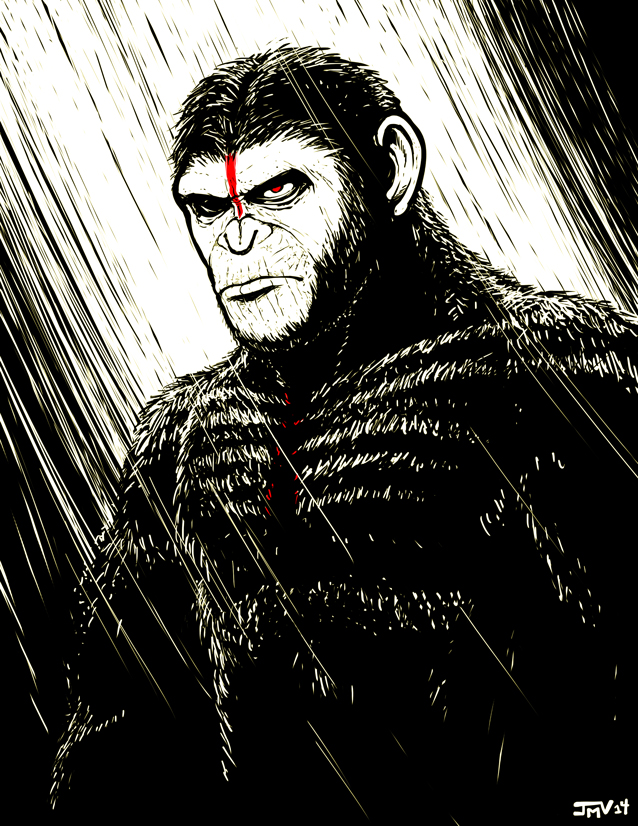 Dawn of The Planet of The Apes - Caesar by Kaigetsudo on ...