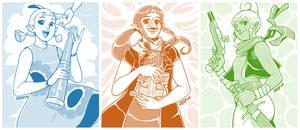 Wind Waker - Aryll, Medli and Tetra