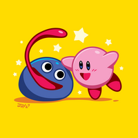 Kirby and Gooey by Kaigetsudo