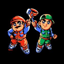 Super Mario Bros. Movie - Mario and Luigi by Kaigetsudo