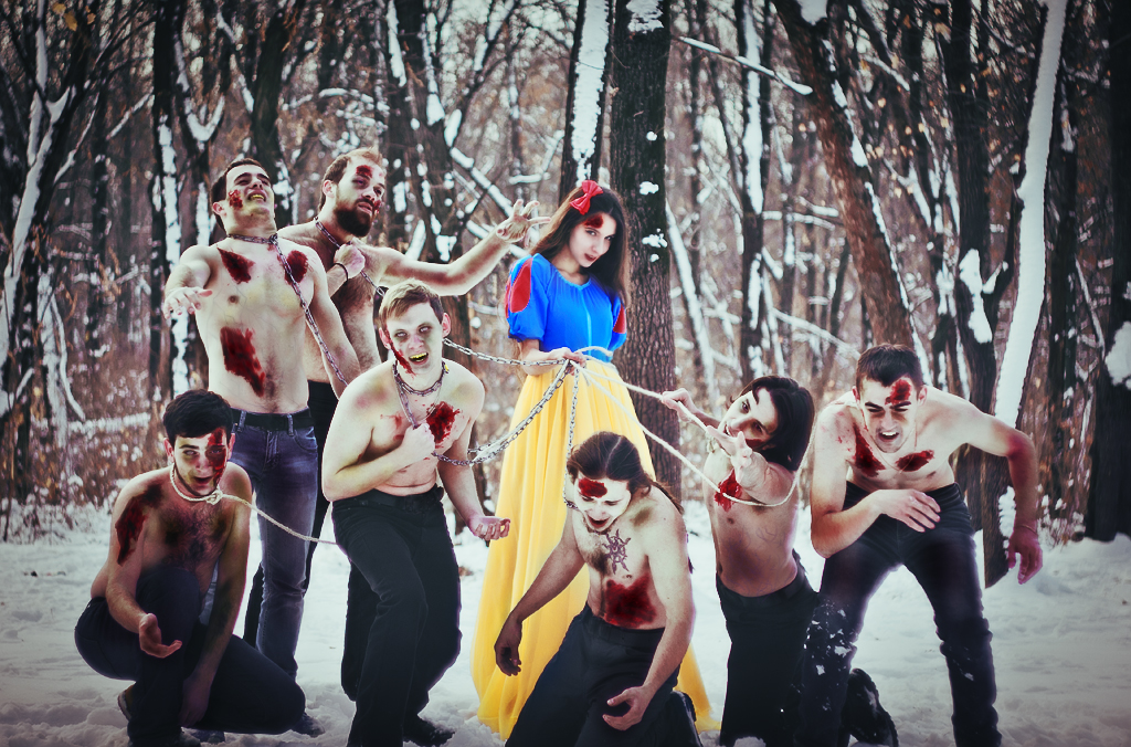 snowwhite and 7 dwarfs by Anna1Anna