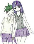 Spike and Twilight Sparkle