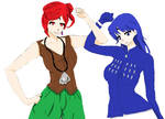 Rubeus And Blue Saphir recolored by iliowahine