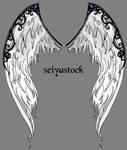 Ornate Angel Wings by seiyastock