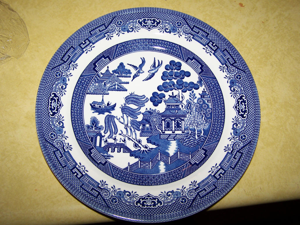 Blue Willow Plate by seiyastock