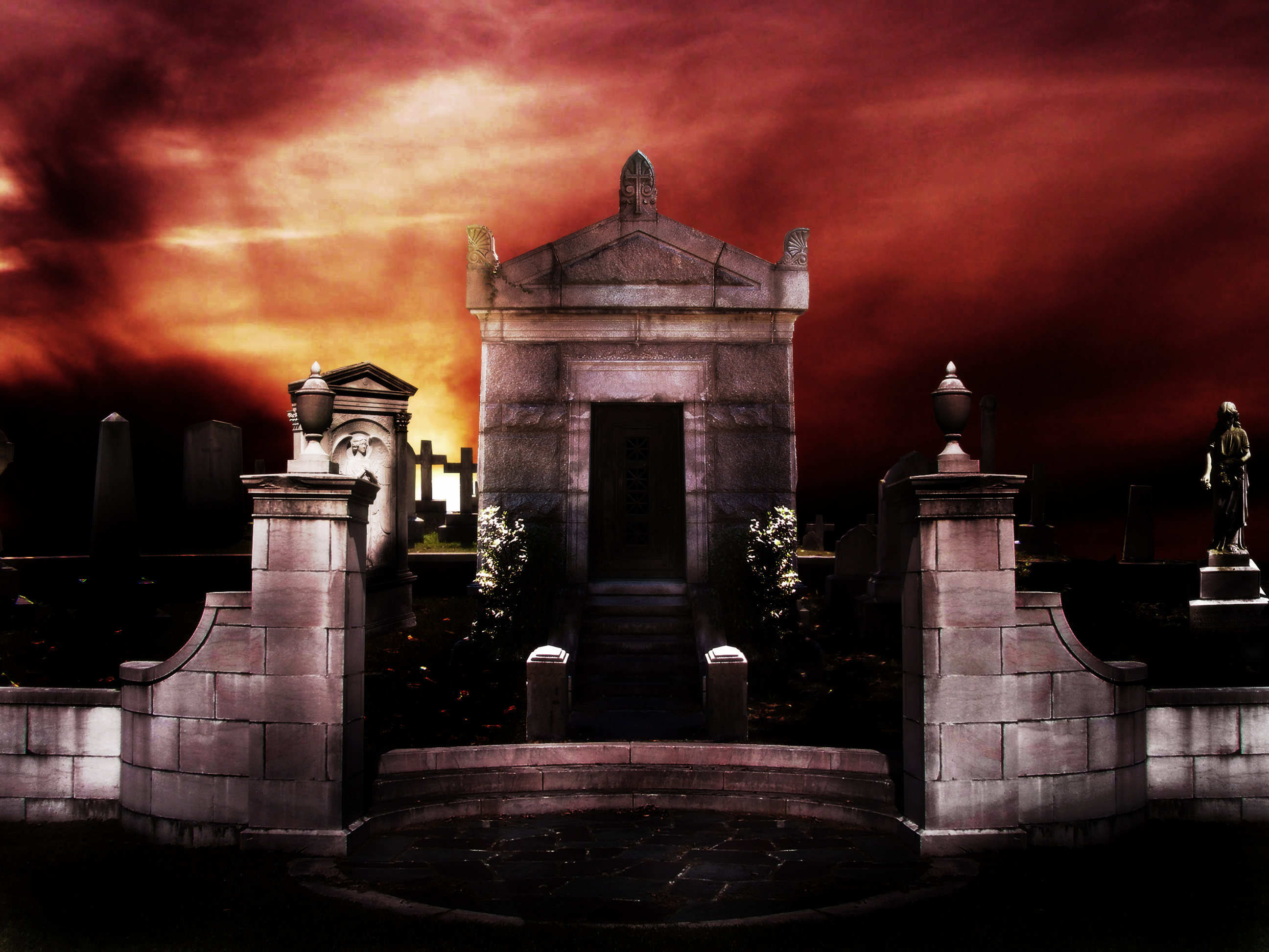 Grave Yard Background by seiyastock