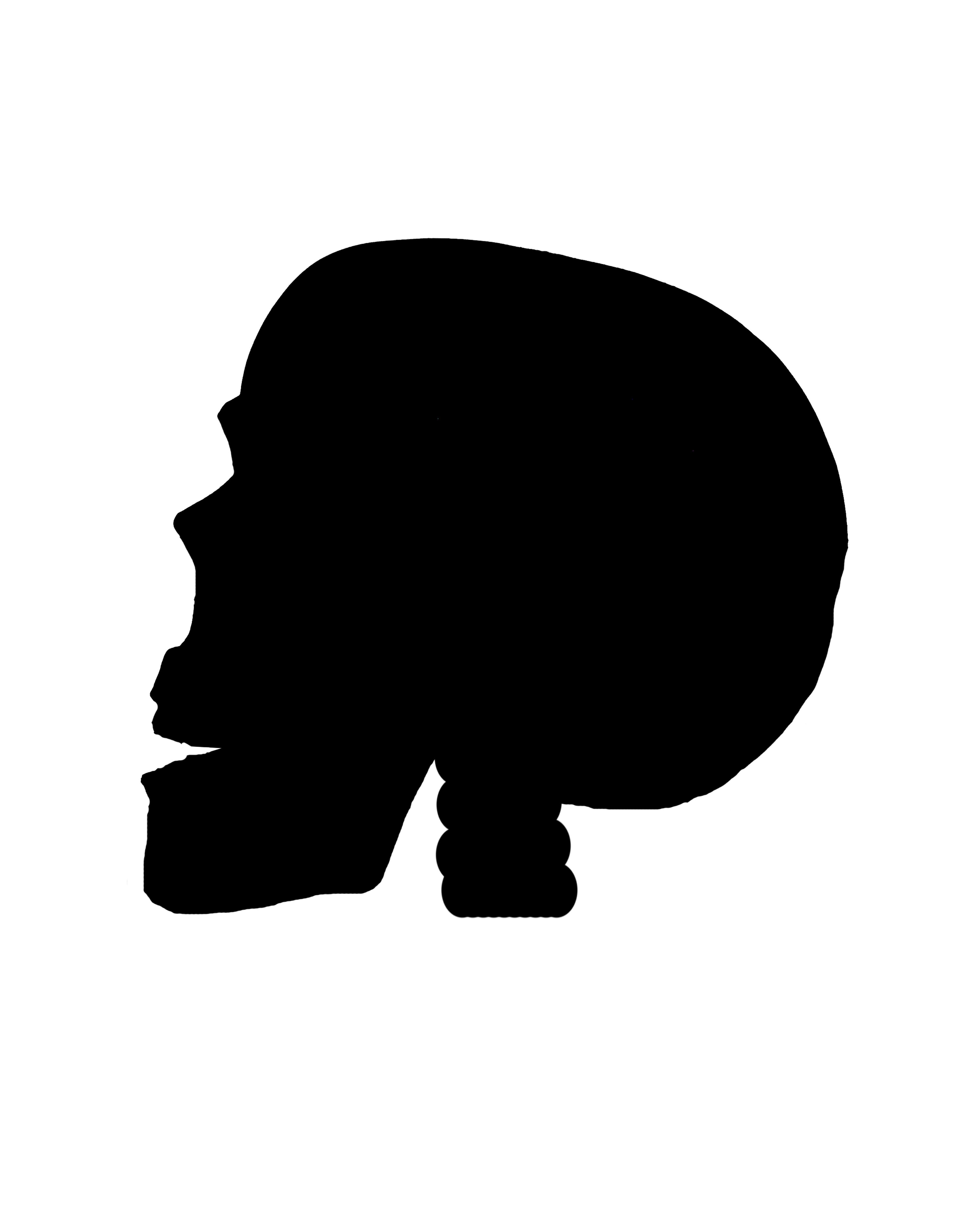 Skull Silhouette by seiyastockHalloween Skull Silhouette