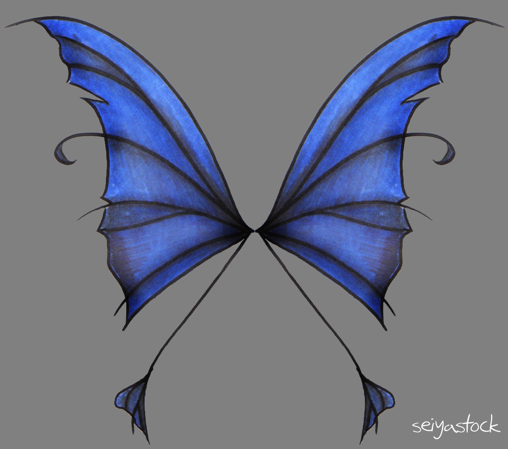 Dark Fairy Wings Fairy wings by seiyastockDark Blue Fairy Wings