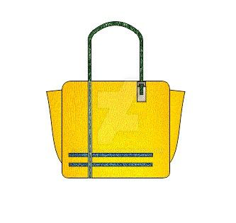 Sunny yellow ladies bag by Shreya-96