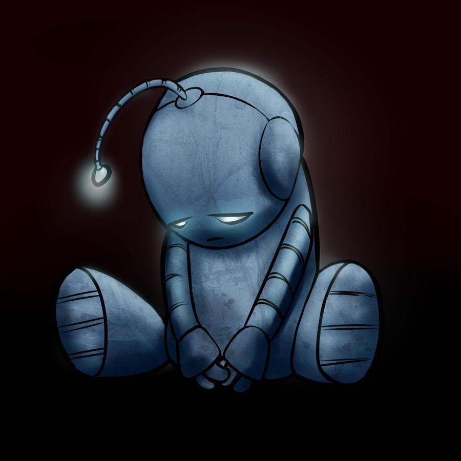 Lil Sad Bot by Elvillada