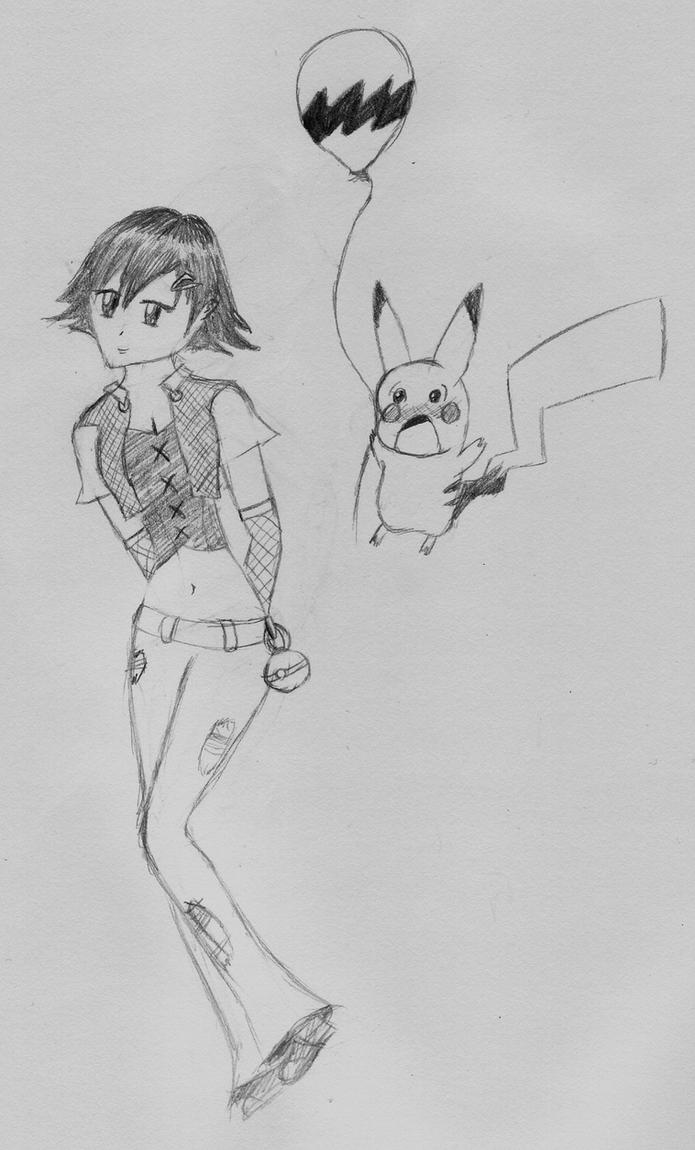 ash ketchum as a girl by PrismsPalette
