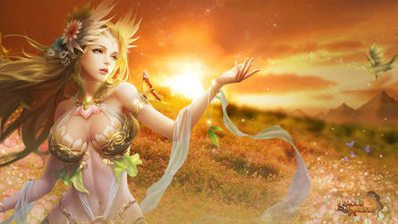 League of Angels - Sylvia 1366x768