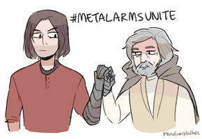 luke and bucky are #metalarmbros by Randomsplashes