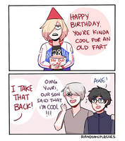 YOI: KINDA COOL FOR AN OLD FART by Randomsplashes