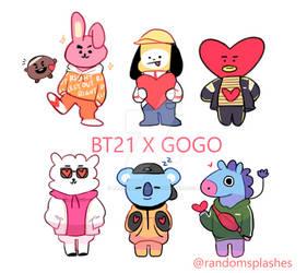 BTS: BT21 X GOGO