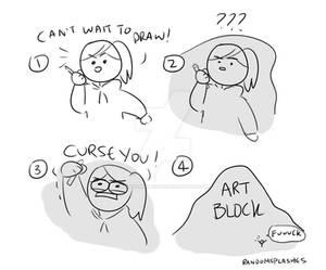 WHEN THAT ART BLOCK HITS YA....