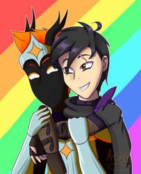 (OCs) Pheon and Nico Pride Month