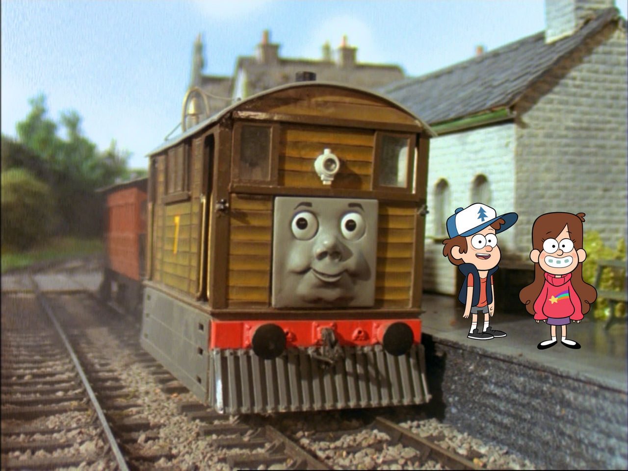 Dipper Pines and Mabel Pines meets Toby