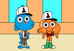 Gumball the Factory Employee and Darwin The Factor
