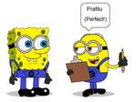 Spongebob Disguise as a Minion
