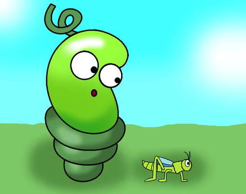 A Bean and the Grasshopper