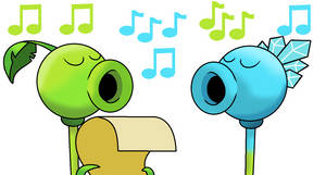 Singing Christmas with Peashooter and Snow Pea