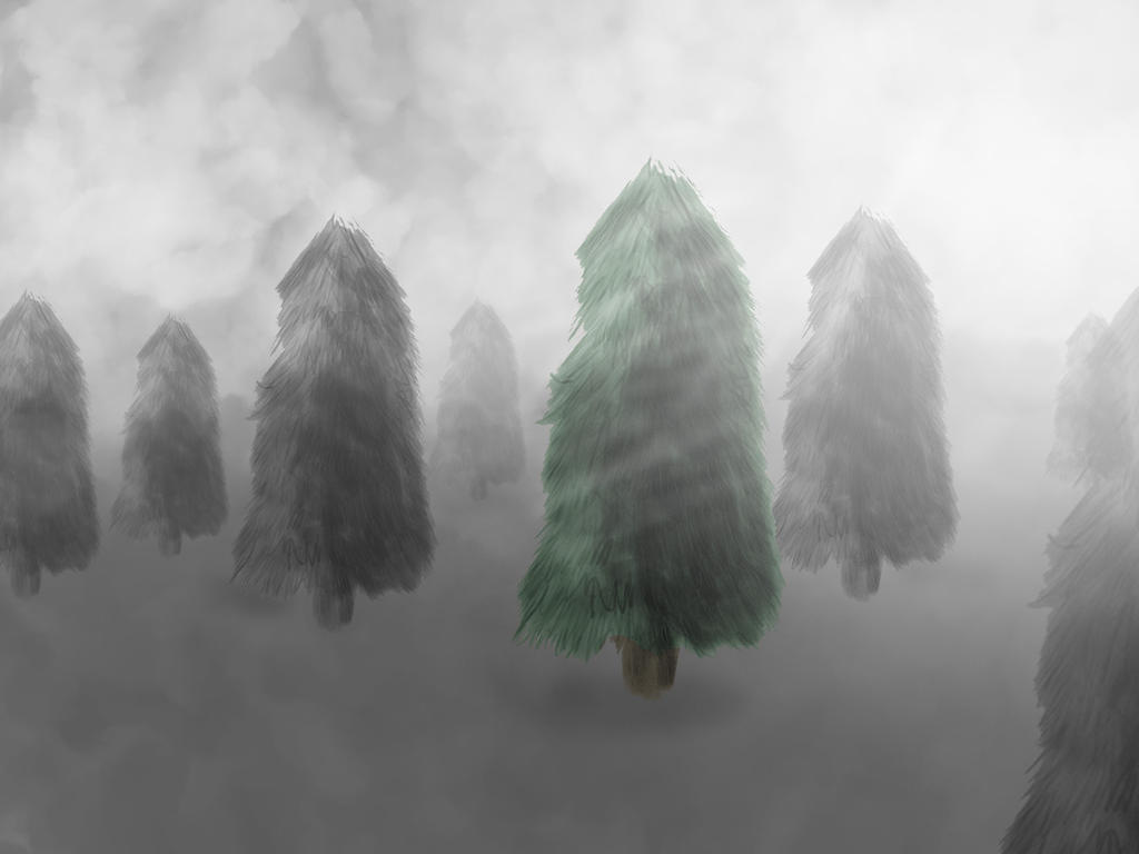Vinterskog - Wacom Test by christofferwig