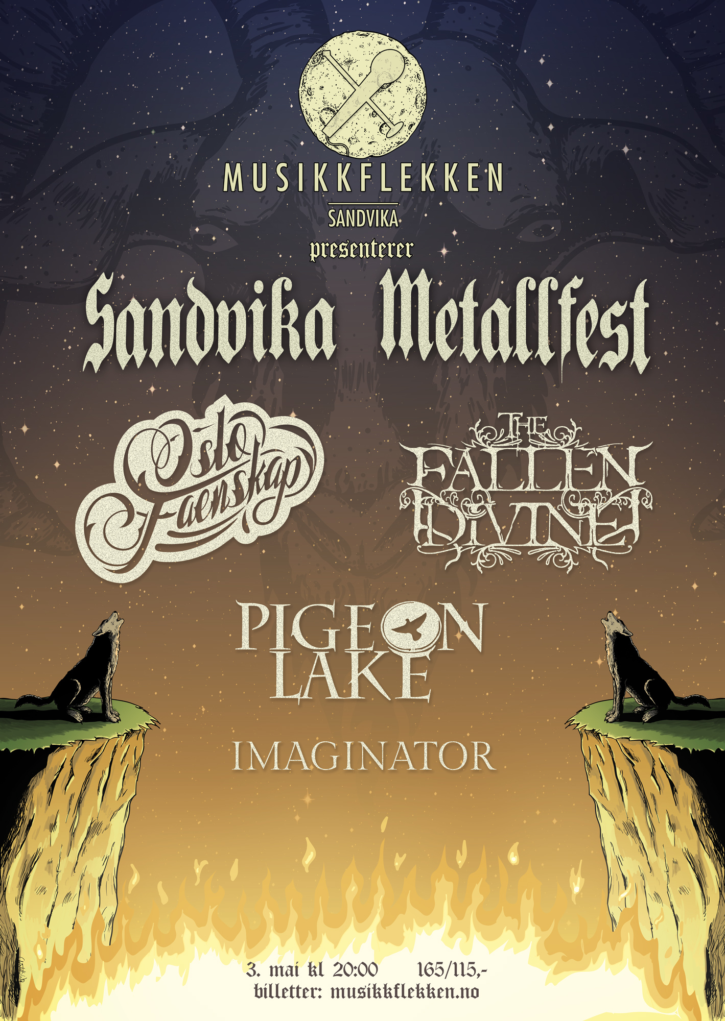 Sandvika Metallfest Poster by christofferwig