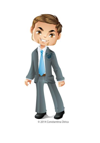 Businessman Chibi by krmn777