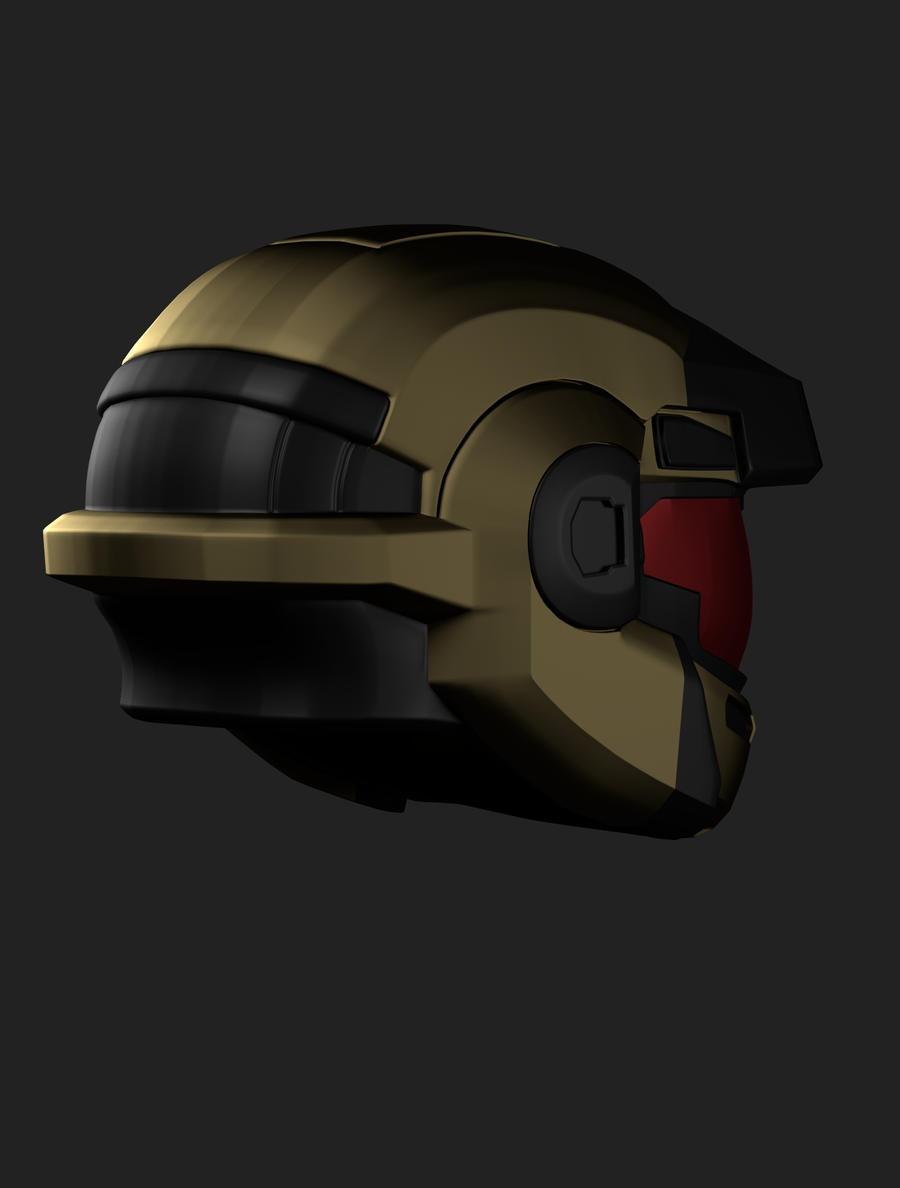 Halo Reach Jorge Helmet by EvocProps on deviantART