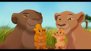 Simba meets Nala