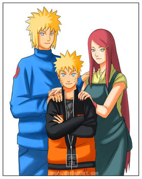 minato, kushina and naruto